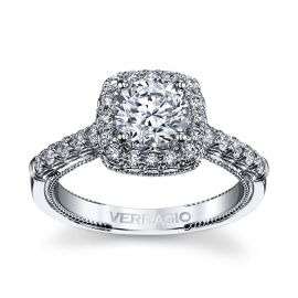 Verragio 14k White Gold Diamond Engagement Ring Setting 1/2 ct. tw.