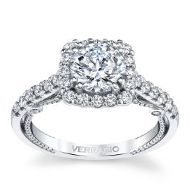 Verragio 18k White Gold Diamond Engagement Ring Setting 5/8 ct. tw.