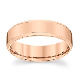 Novell 14k Rose Gold 6 mm Wedding Band