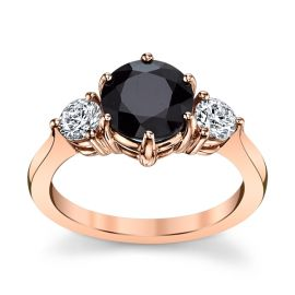 Blossom Bridal 14k Rose Gold Blue Sapphire Diamond Engagement Ring 3/8 ct. tw.