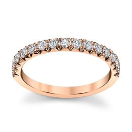 Henri Daussi 14k Rose Gold Diamond Wedding Band 3/8 ct. tw.