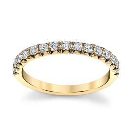 Henri Daussi 14k Yellow Gold Diamond Wedding Band 3/8 ct. tw.
