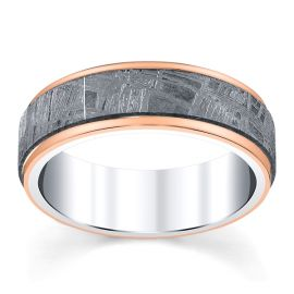 Lashbrook Cobalt and 14k Rose Gold 7 mm Wedding Band