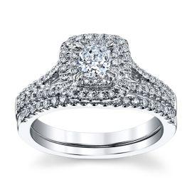 Poem 14k White Gold Diamond Wedding Set 3/4 ct. tw.