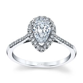 Coast Diamond 14k White Gold Diamond Engagement Ring Setting 1/6 ct. tw.