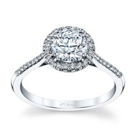 Coast Diamond 14k White Gold Diamond Engagement Ring Setting 1/7 ct. tw.