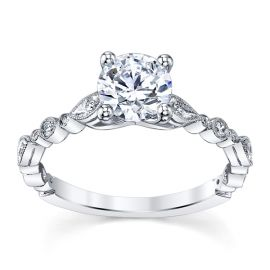 Coast Diamond 14k White Gold Diamond Engagement Ring Setting 1/10 ct. tw.