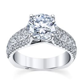 A. Jaffe 14k White Gold Diamond Engagement Ring Setting 1 ct. tw.