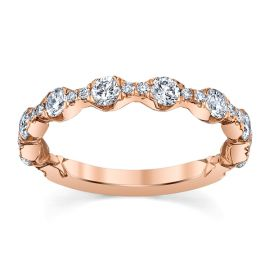 A. Jaffe 14k Rose Gold Diamond Wedding Band 3/4 ct. tw.