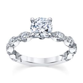 A. Jaffe 14k White Gold Diamond Engagement Ring Setting 3/4 ct. tw.