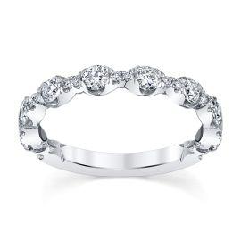 A. Jaffe 14k White Gold 2.1 mm Diamond Wedding Band 3/4 ct. tw.