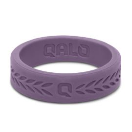 Qalo Lilac Silicone Laurel Band - Size 7