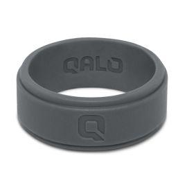 Qalo Charcoal Silicone Step Edge Band - Size 10