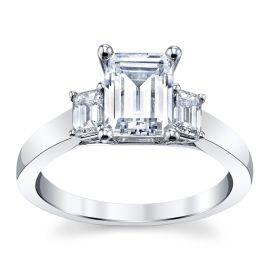 RB Signature 14k White Gold Diamond Engagement Ring Setting 3/8 ct. tw.