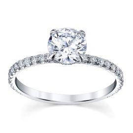 Michael M. 18k White Gold Diamond Engagement Ring Setting 1/4 ct. tw.