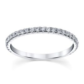 Michael M. 18k White Gold Diamond Wedding Band 1/4 ct. tw.