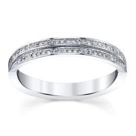 Michael M. 18k White Gold Diamond Wedding Band 1/6 ct. tw.