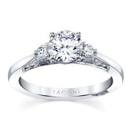 Tacori 18k White Gold Diamond Engagement Ring Setting 1/5 ct. tw.