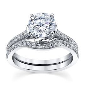 RB Signature 14k White Gold Diamond Wedding Set 3/8 ct. tw.