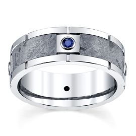 Lashbrook Cobalt 8 mm Blue Sapphire Wedding Band