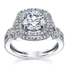 Kirk Kara 18k White Gold Diamond Engagement Ring Setting 3/4 ct. tw.