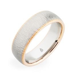 Christian Bauer Palladium and 18k Rose Gold 7 mm Wedding Band