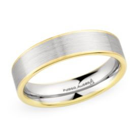 Christian Bauer Palladium and 18k Rose Gold 6 mm Wedding Band