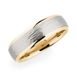 Christian Bauer Palladium and 18k Rose Gold 6.5 mm Wedding Band