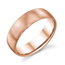 Christian Bauer 14k Red Gold 6.5 mm Wedding Band