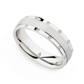 Christian Bauer Palladium 6 mm Diamond Wedding Band 1/5 ct. tw.