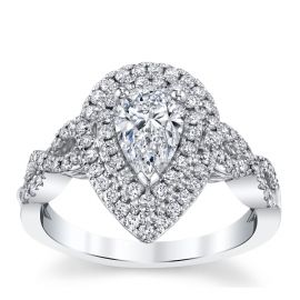 Poem 14k White Gold Diamond Engagement Ring 1 1/4 ct. tw.
