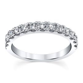 18k White Gold Diamond Wedding Band 1/2 ct. tw.