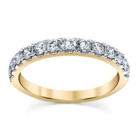 14k Yellow Gold Diamond Wedding Band 1/2 ct. tw.