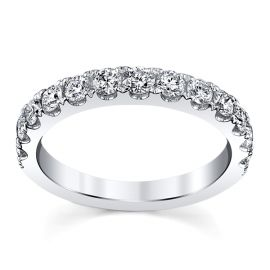18k White Gold Diamond Wedding Band 3/4 ct. tw.