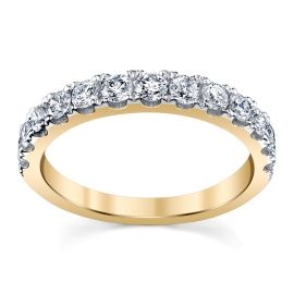 14k Yellow Gold Diamond Wedding Band 3/4 ct. tw.