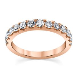 14k Rose Gold Diamond Wedding Band 3/4 ct. tw.