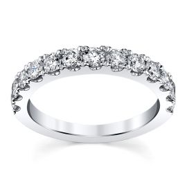 14k White Gold Diamond Wedding Band 7/8 ct. tw.