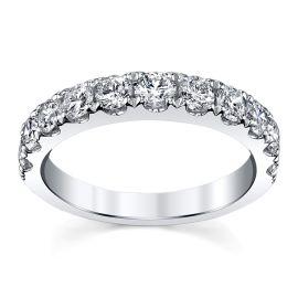 14k White Gold Diamond Wedding Band 1 1/4 ct. tw.