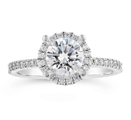 14k White Gold Diamond Engagement Ring Setting 1/4 ct. tw.