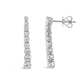 14k White Gold Graduated Earrings 1 ct. tw.