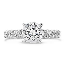 Divine 18k White Gold Diamond Engagement Ring Setting 3/4 ct. tw.