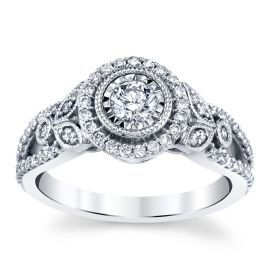 10k White Gold Diamond Engagement Ring 5/8 ct. tw.