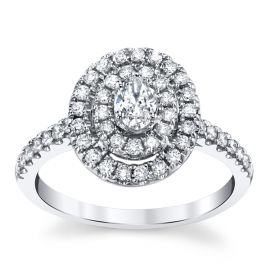 14k White Gold Diamond Engagement Ring 5/8 ct. tw.