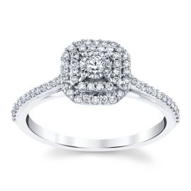 14k White Gold Diamond Engagement Ring 1/3 ct. tw.