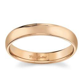 14k Rose Gold 4 mm Wedding Band