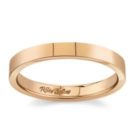 14k Rose Gold 3 mm Wedding Band
