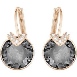 Swarovski Bella V Pierced Earrings, Gray, Rose Gold-Tone plating