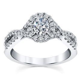Poem 14k White Gold Diamond Engagement Ring 3/4 ct. tw.