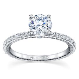 Verragio 14k White Gold Diamond Engagement Ring Setting 1/4 ct. tw.