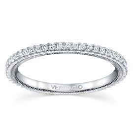 Verragio 14k White Gold Diamond Wedding Band 1/4 ct. tw.